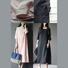 Load image into Gallery viewer, Black linen maternity dress plus size linen summer maxi dresses summer linen clothing
