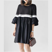 Laden Sie das Bild in den Galerie-Viewer, Black sweet tent dresses oversize maternity dresses 2017 new