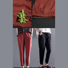Load image into Gallery viewer, Black thin cotton pants long summer pants