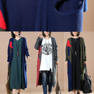Blackish green oversize sweaters cardigans coats