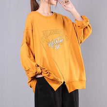 Load image into Gallery viewer, Bohemian o neck cotton clothes For Women Fabrics yellow print blouses