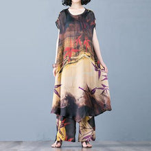 Load image into Gallery viewer, Bohemian silk dresses Korea Fashion Loose Printed Two Piece Set