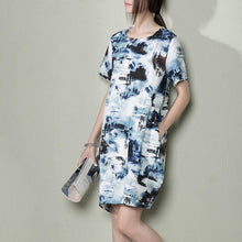Load image into Gallery viewer, Breathy summer linen dress floral linen sundresses shift dress those old memery