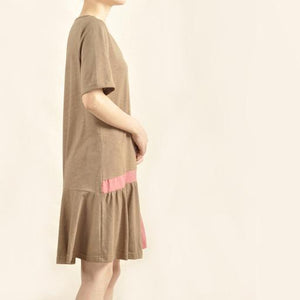 Brown high end sundress natural cotton linen summer dress-will be available soon