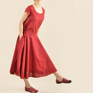 Burgundy sundress vintage fit flare maxi dress