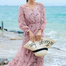 Load image into Gallery viewer, Buttoned Ruffle Layer Bohemian Dress For Women