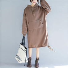 Load image into Gallery viewer, Buy Cotton clothes For Women Fashion pockets Christmas Gifts chocolate Art Dress