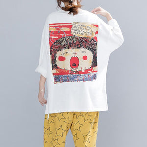 Buy cotton tunic top Vintage o neck Character Fashion Ideas white tops