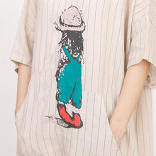 Load image into Gallery viewer, Cartoon Printed And Stripes Loose Dress