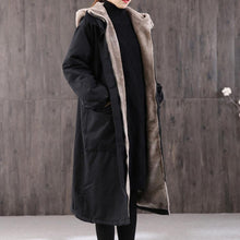 Load image into Gallery viewer, Casual black women parka casual Coats winter hooded thick outwear