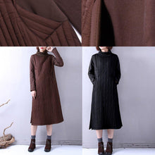 Load image into Gallery viewer, Casual chocolate winter Loose fitting high neck side oPENYZ-2018111405