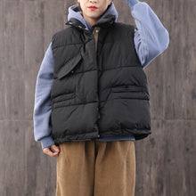 Load image into Gallery viewer, Casual oversize snow jackets coats black stand collar zippered Parkas
