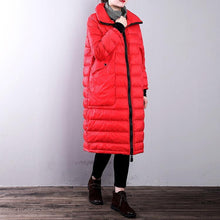 Load image into Gallery viewer, Casual red goose Down coat casual zippered stand collarYZ-2018111434