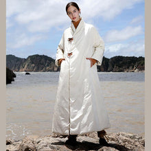 Load image into Gallery viewer, Casual white down jacket woman plus size thick snow jackets embroidery winter outwear