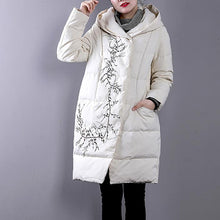 Load image into Gallery viewer, Casual white goose Down coat Loose fitting hoodedYZ-2018111411