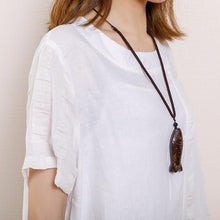 Laden Sie das Bild in den Galerie-Viewer, Casual Round Neck Short Sleeve Pockets Dress