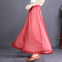 Laden Sie das Bild in den Galerie-Viewer, Chic black chiffon clothes For Women Fitted Ideas elastic waist wide leg pants