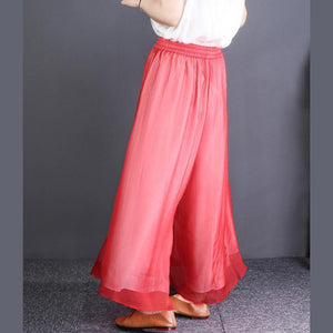 Chic black chiffon clothes For Women Fitted Ideas elastic waist wide leg pants