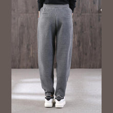 Load image into Gallery viewer, Chic gray ripped Jeans vintage drawstring elastic waist Tutorials trousers