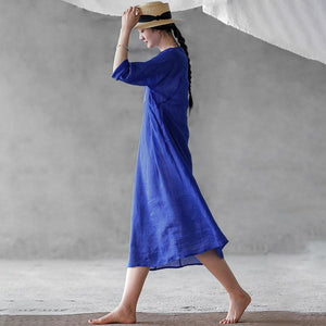 Chinese Style Wide And Cool Midi Dress