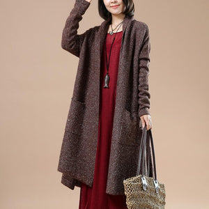 Chocolate winter knit coats sweater cardigans