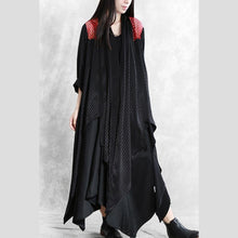 Load image into Gallery viewer, Classy asymmetric Fashion coats women black silhouette coat