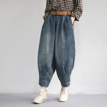 Load image into Gallery viewer, Classy cotton troues Fashion Women Spring Vintage Solid Loose Turnip Pants Jeans