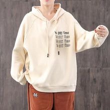 Load image into Gallery viewer, Classy hooded alphabet cotton crane tops Work nude blouses