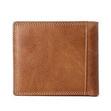 Load image into Gallery viewer, Coffee Genuine Leather Wallet Vintage Casual 6 Card Slots Card Pack For Men