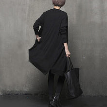 Load image into Gallery viewer, Cozy black oversized long sleeve knitwear pockets