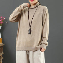Load image into Gallery viewer, Cozy nude clothes For Women wild oversized hollow out knit sweat tops