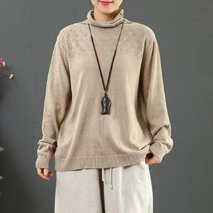 Cozy nude clothes For Women wild oversized hollow out knit sweat tops