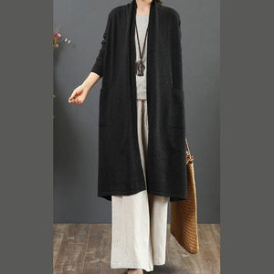 Cute black knit cardigans oversize wild pockets sweaters