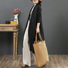 Load image into Gallery viewer, Cute black knit cardigans oversize wild pockets sweaters