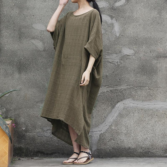 DIY cotton clothes For Women plus size Women Solid Summer Jacquard Loose Maxi Dress