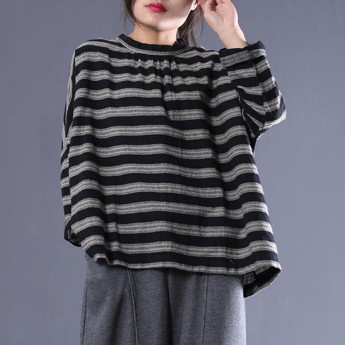 DIY cotton tunic pattern Omychic Women Stripe Casual Loose Literature Spring Shirt