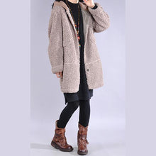 Load image into Gallery viewer, DIY hooded top quality winter trench coat khaki tunic outwears
