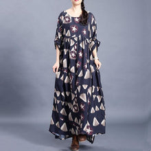 Load image into Gallery viewer, DIY o neck exra large hem clothes print Kaftan Dress