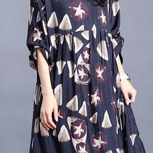 DIY o neck exra large hem clothes print Kaftan Dress