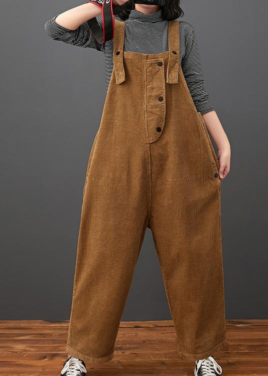 Elegant Brown Pant Plus Size Clothing Spring Jumpsuit Pants