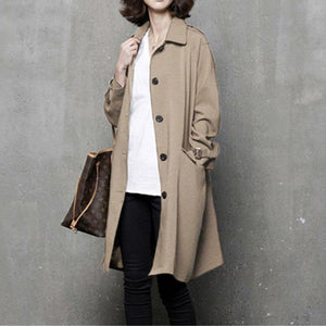 Elegant fall top quality tie waist trench coat khaki Vestidos De Lino coat