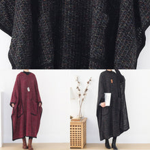 Load image into Gallery viewer, Elegant hooded spring clothes Women pattern burgundy Maxi Dress