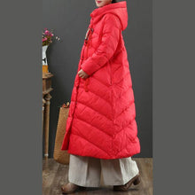 Load image into Gallery viewer, Elegant red goose Down coat plus size embroidery snow jackets Chinese Button top quality Jackets