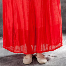 Load image into Gallery viewer, Elegant linen skirt oversized Women Casual Drawstring Ankle Length Lining Skirts