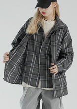 Load image into Gallery viewer, Fake two-piece plaid shirt women's autumn 2020 new coat loose jacket