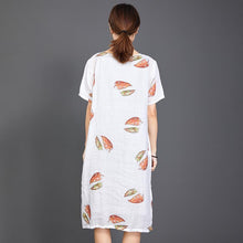 Laden Sie das Bild in den Galerie-Viewer, Fallen Leaves Split Hem Comfortable Dress