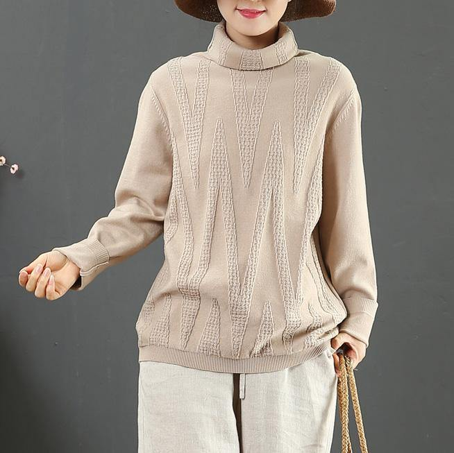 Fashion whiter clothes For Women wild fall fashion high neck knitted blouse