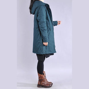 Fine army green winter coats plus size clothing winter jacket hooded winter coats