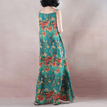 Load image into Gallery viewer, Fine blue summer maxi dress o neck Spaghetti Strap cocktail dress