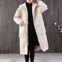 Load image into Gallery viewer, Fine casual winter jacket overcoat white hooded thick Parkas